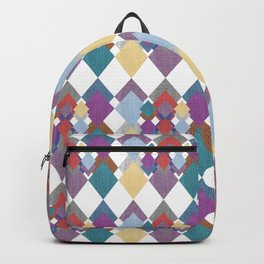 Colorful Fabric Pattern Backpack