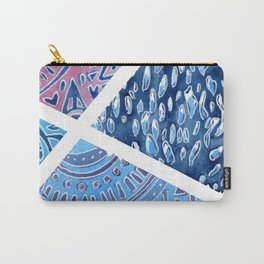 Sectional Patterns - Blue and Purple Carry-All Pouch