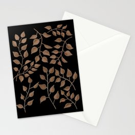 Gold Branches on Black Stationery Cards