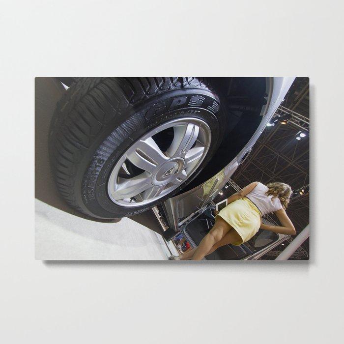 Renault Logan Expression Automatic Wheel Metal Print