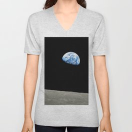 Earthrise High Resolution Unisex V-Neck