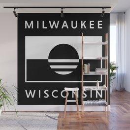 Milwaukee Wisconsin - Black - People's Flag of Milwaukee Wall Mural