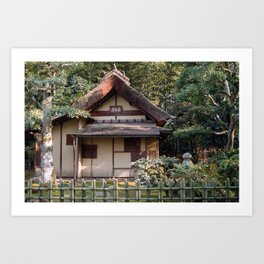 Old teahouse Art Print