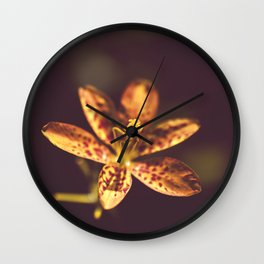 Dramatic Orange Leopard Lily Flower Botanical / Floral / Nature Photo Wall Clock