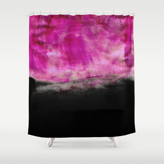 Magenta & Black Shower Curtain