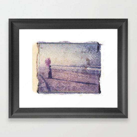 Balloons at the Beach Framed Art Print