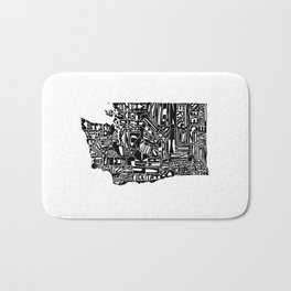 Typographic Washington Bath Mat