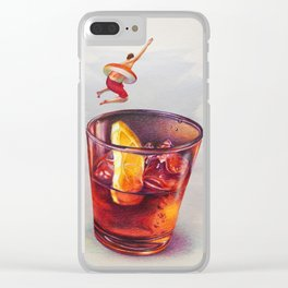 Summer Club Clear iPhone Case