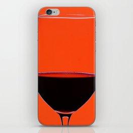 Red Wine Glass iPhone Skin