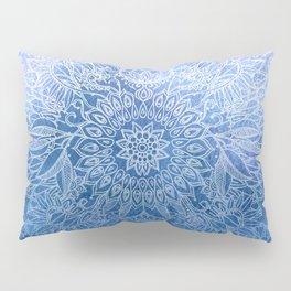 Enchanted Indigo - watercolor + doodle Pillow Sham