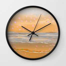 Peach Beach Memories Wall Clock