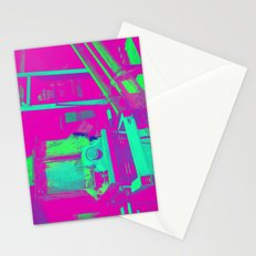 Industrial Abstract Purple Stationery Cards