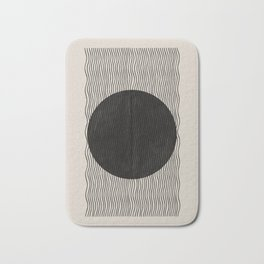 Abstract Form Art Bathroom Mat Flocking Design 40x60cm