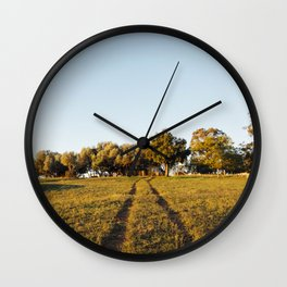 Country Driveway Wall Clock