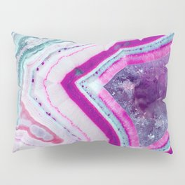 Cotton Candy Agate Slice Pillow Sham