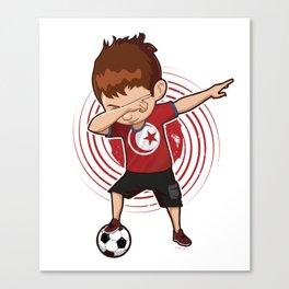 Football Dab Tunisia Tunisian Footballer Dabbing Rugby Goal Soccer Gift Canvas Print
