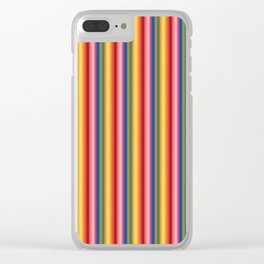 Rainbow Stripes 2019 Clear iPhone Case