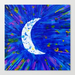 Glitter Crescent Moon Phase Canvas Print