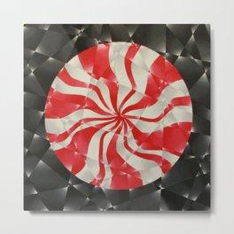 Peppermint Swirl Metal Print