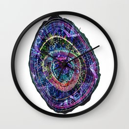 Abstract Cosmic Geode Wall Clock