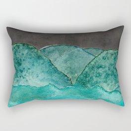mountains in moontlight Rectangular Pillow