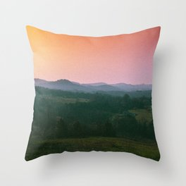 Rainbow Haze Throw Pillow