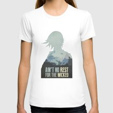 Borderlands 2 - Ain't No Rest for the Wicked White MEDIUM Womens Fitted Tee