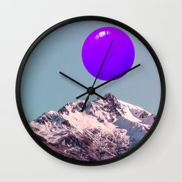 ultra violet sunrise Wall Clock