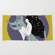 Iguana Fairy Girl Beach Towel