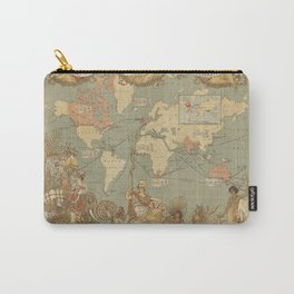 Ancient world map 4 Carry-All Pouch