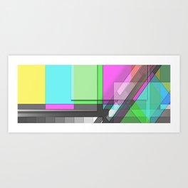 Color/Colour Bars Art Print