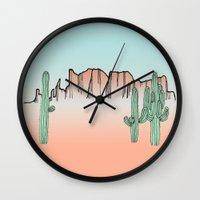 arizona Wall Clocks featuring Arizona by Mrs. Ciccoricco