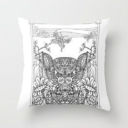 Garden Series 2 Adult Coloring  Throw Pillow
