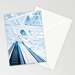 Modern interior with stairs Stationery Cards