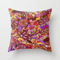 renaissance Throw Pillows featuring Renaissance Fair by Teri Newberry