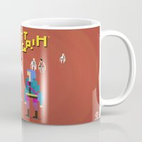 scott pilgrim Mugs featuring Pixel Art Scott Pilgrim by LoweakGraph