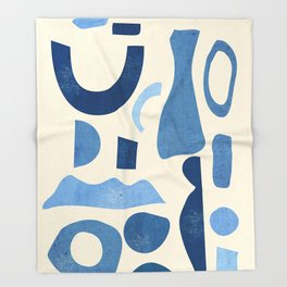 Abstract Shapes 38 Throw Blanket