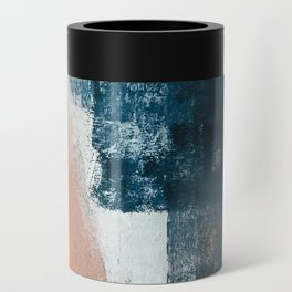 Vienna: a minimal, abstract mixed-media piece in pinks, blue, and white by Alyssa Hamilton Art Can Cooler