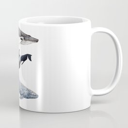Orca, humpback and grey whales Coffee Mug