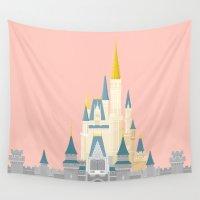 cinderella Wall Tapestries featuring Cinderella Castle  by StevenCoward