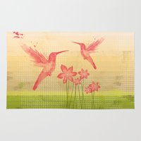 hummingbird Area & Throw Rugs featuring Hummingbird by Kakel