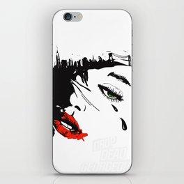 drop dead gorgeous - femme fatale iPhone Skin