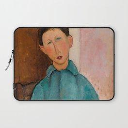 "Amedeo Modigliani ""Boy in a Blue Vest"" 1918 Laptop Sleeve"