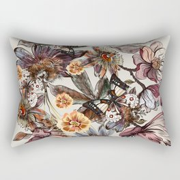 Tropical pattern with passionflower and magnolia flowers Rectangular Pillow
