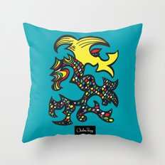 Kissing Dragon Throw Pillow