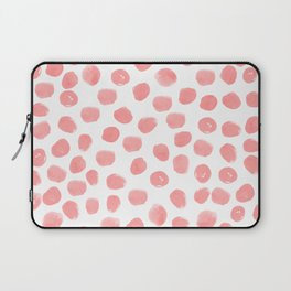 Natalia - abstract dot painting dots polka dot minimal modern gender neutral art decor Laptop Sleeve