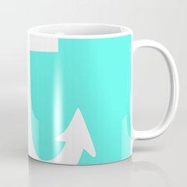 Anchor (White & Turquoise) Coffee Mug