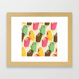 Ice cream song pattern Framed Art Print