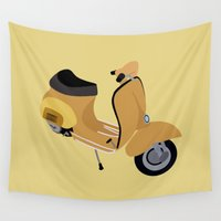 vespa Wall Tapestries featuring Vespa by Fabian Bross