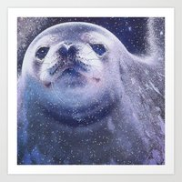 seal Art Prints featuring Seal by Asya Solo